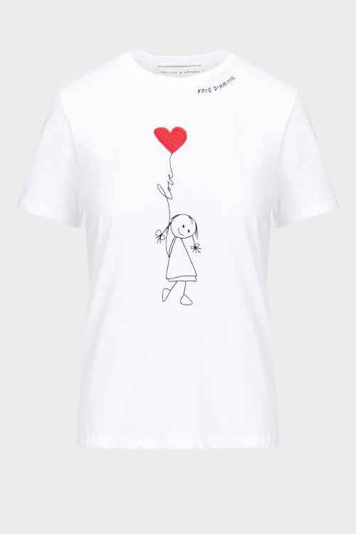 T-Shirt Skills&genes W205S01_W145_000 biały