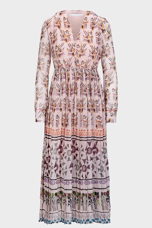 Sukienka Skills&genes W204A07_W185_060 różowy
