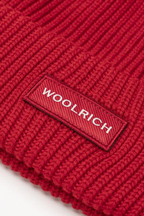 Czapka (100% Virgin Wool) Woolrich CFWOAC0083MRUF0098_5405 czerwony