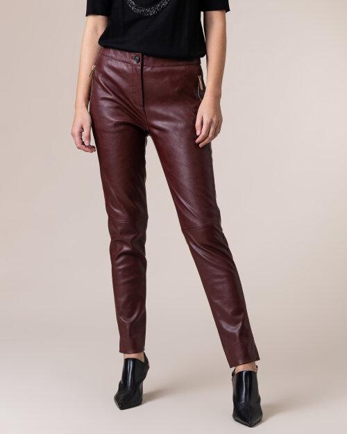 Spodnie Trussardi  56P00229_1T002169_B140 bordowy