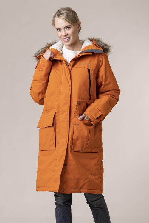 Kurtka (100% Recycled Polyamide) Didriksons 503157_Leona Women's Parka_410 pomarańczowy