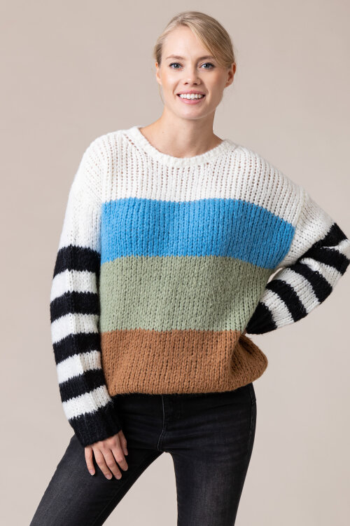 Sweter One More Story 101443_3001 wielobarwny