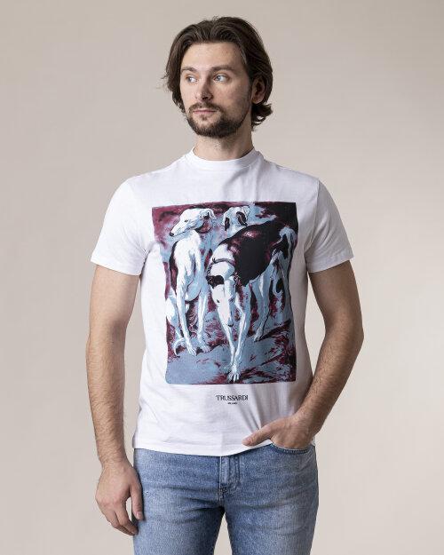 T-Shirt Trussardi  52T00433_1T003076_W001 biały