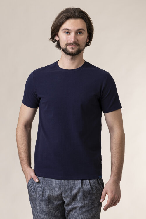 T-Shirt At.p.co A215T11_JW01_790 granatowy