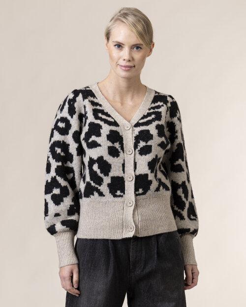 Sweter Lollys Laundry 20403_7010_LEOPARD PRINT szary