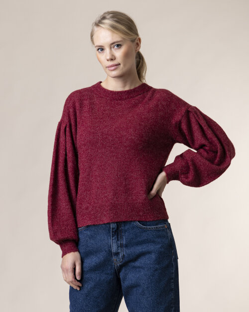 Sweter Na-Kd 1018-004711_RED WINE bordowy