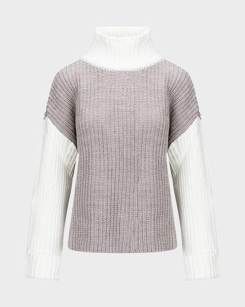 Sweter Na-Kd 1100-003636_BEIGE/WHITE beżowy