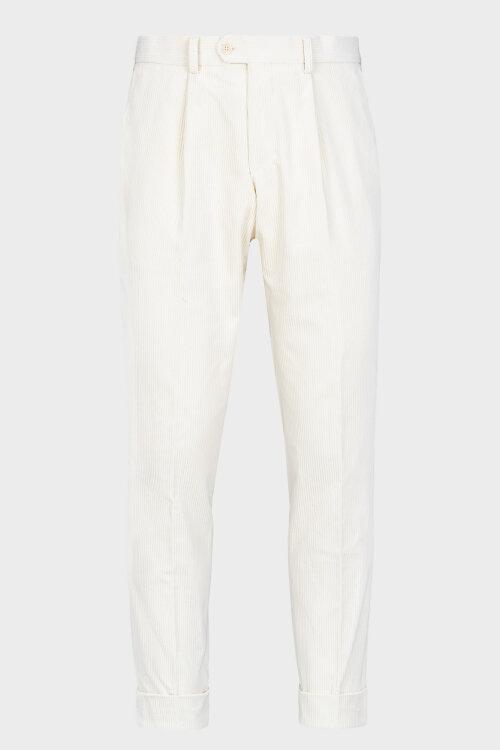Spodnie Cavaliere 20AW20401_ALLEN SLIM_11 kremowy