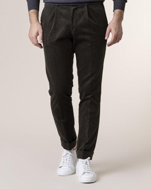 Spodnie Cavaliere 20AW20401_ALLEN SLIM_80 ciemnozielony