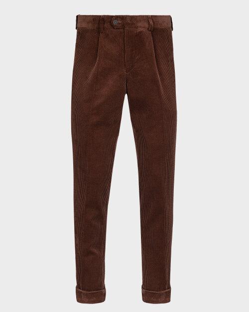 Spodnie Cavaliere 20AW20401_ALLEN SLIM_50 brązowy