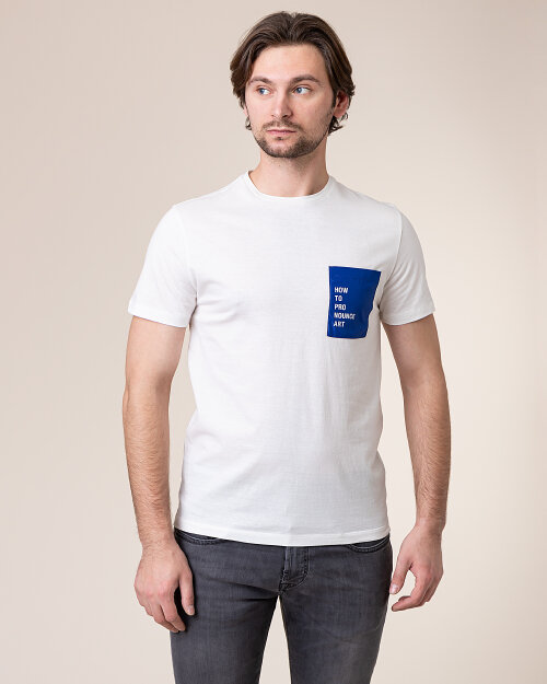 T-Shirt Baldessarini 5015_20003_1015 biały