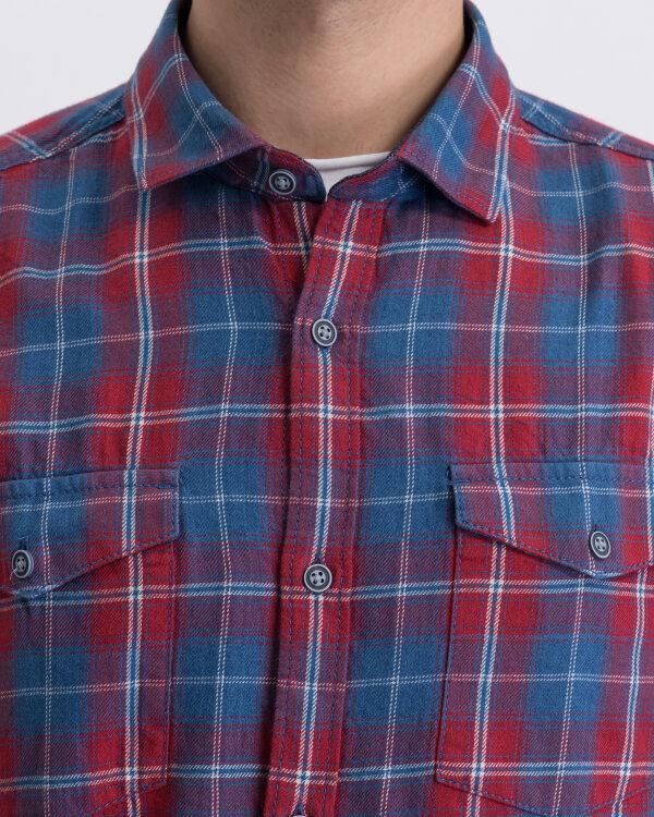 Koszula Pioneer Authentic Jeans 04166_07231_890 czerwony