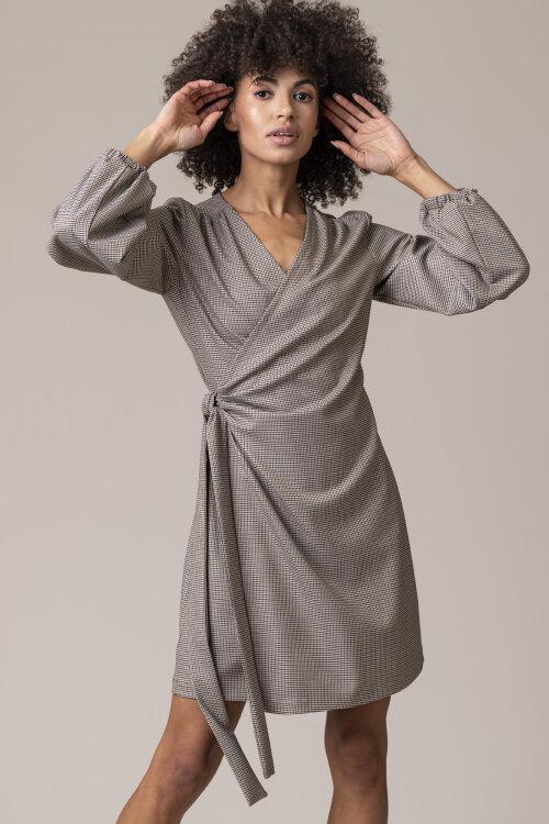 Sukienka Fraternity JZ20_GRACE_AUTUMN PEPITE beżowy