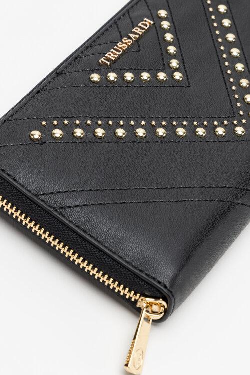 Portfel Trussardi Jeans 75W00255_9Y099999_K299 Czarny Trussardi Jeans 75W00255_9Y099999_K299 czarny