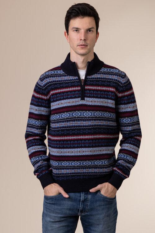 Sweter Fynch-Hatton 1220290_1608 granatowy