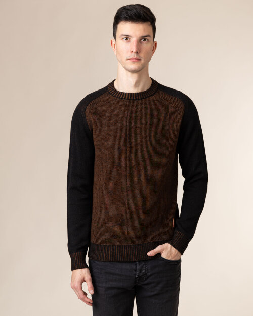 Sweter Trussardi Jeans 52M00404_0F000587_K299 Brązowy Trussardi  52M00404_0F000587_K299 brązowy
