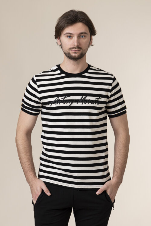 T-Shirt Antony Morato MMKS01897_9000 biały