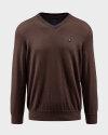 Sweter Campione 7097419_111010_43501 brązowy