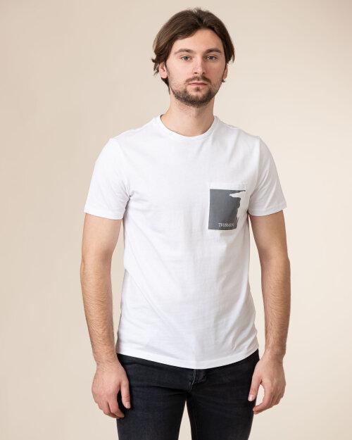 T-Shirt Trussardi  52T00378_1T003076_W001 biały