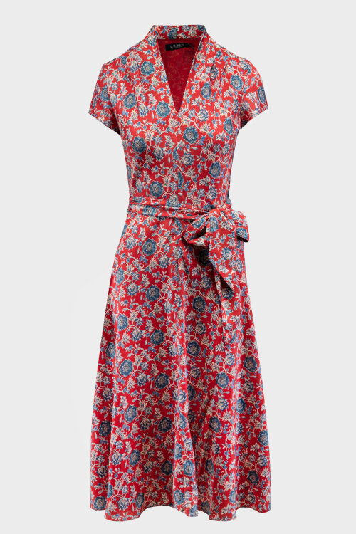 Sukienka Lauren Ralph Lauren 200793315001_RED MU czerwony