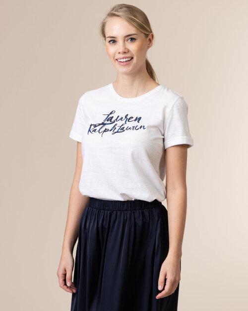 Bluzka Lauren Ralph Lauren 200800396001_WHITE biały