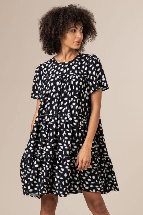 Sukienka Fraternity JZ20_JULIETTE_BLACK/WHITE czarny
